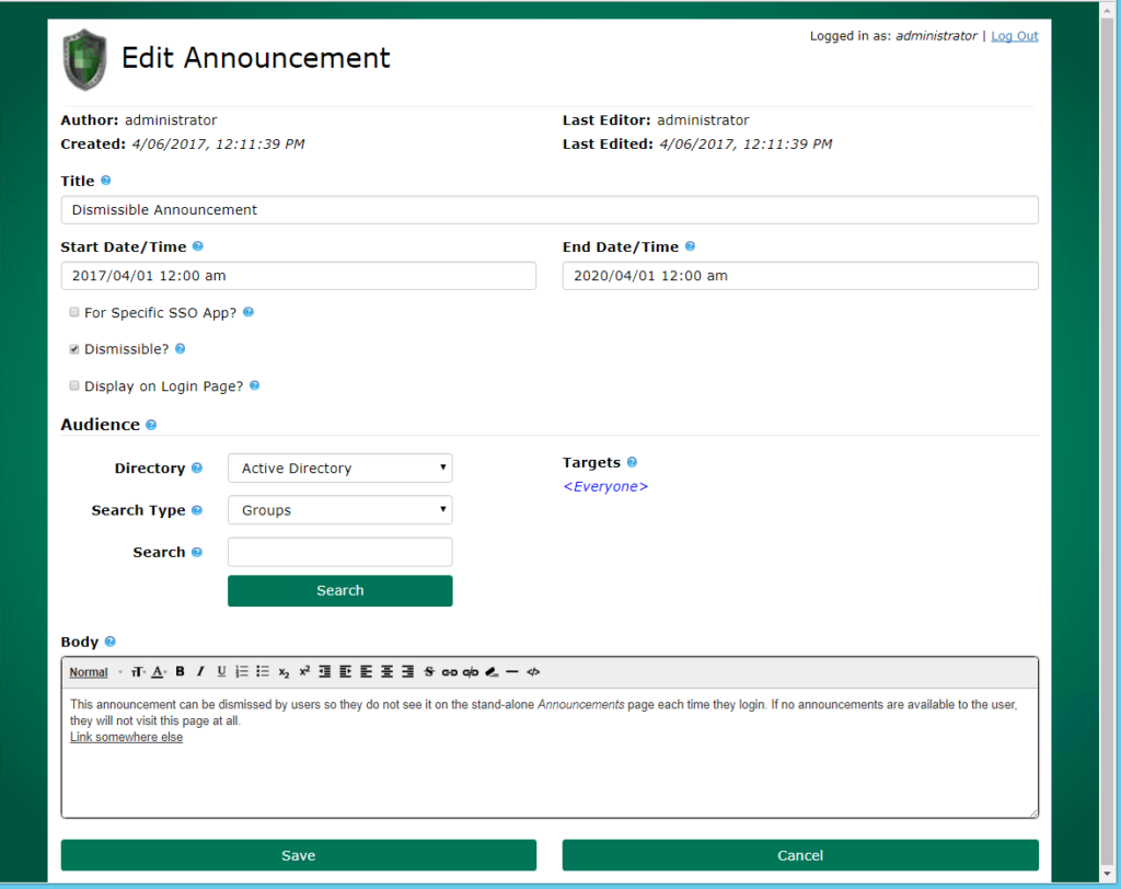 Benefits of Announcements and Customization Options