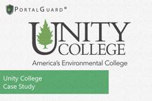 Unity College PortalGuard Case Study